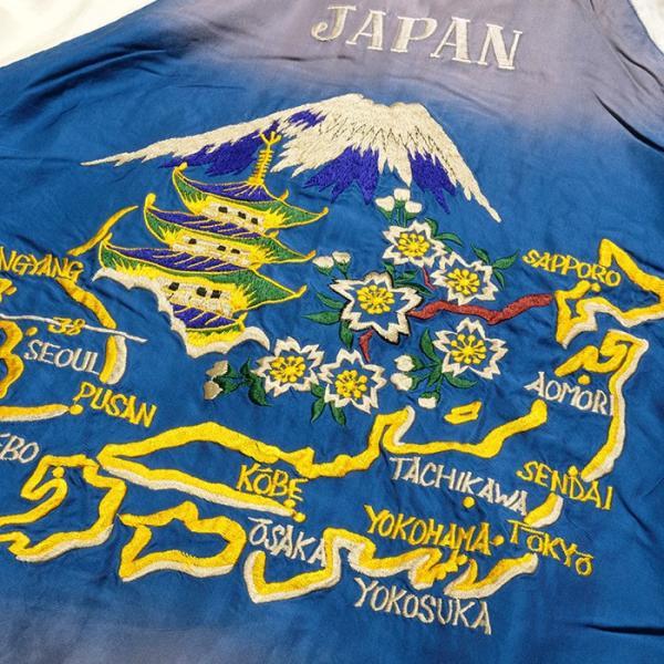 "TAILOR TOYO(テーラー東洋) アセテート スーベニアジャケット エイジングモデル ""ROARING TIGER"" × ""JAPAN MAP""  TT14468 hinoya-ameyoko 15"