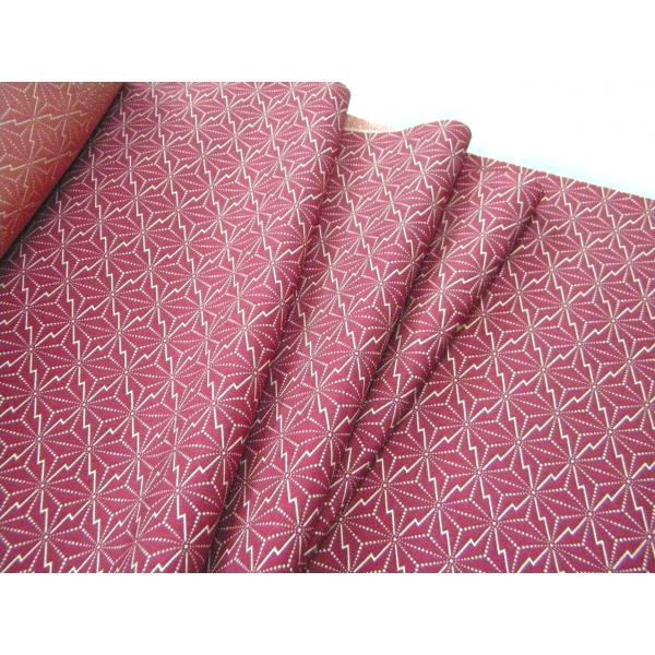 着物のはぎれ 正絹江戸小紋 変り麻柄赤紫 反物切り売り(50cm単位) 絹のハギレ