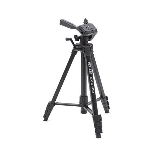 SLIK 三脚 GX 6400 4段 レバーロック 21mmパイプ径 3ウェイ雲台 クイックシュー式 216835|hinozakka