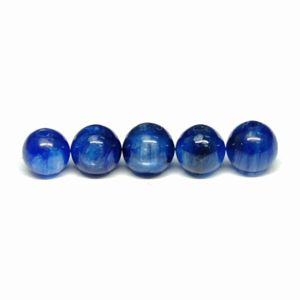 天然石 パワーストーン g3-681H  5mm 5A カイヤナイト 1粒売り 鑑別済 本物保証 送料無料有 ブラジル産