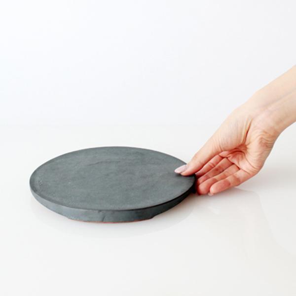 TSUKI フラットプレート 190  瓦食器 丸皿 平皿|hint|02