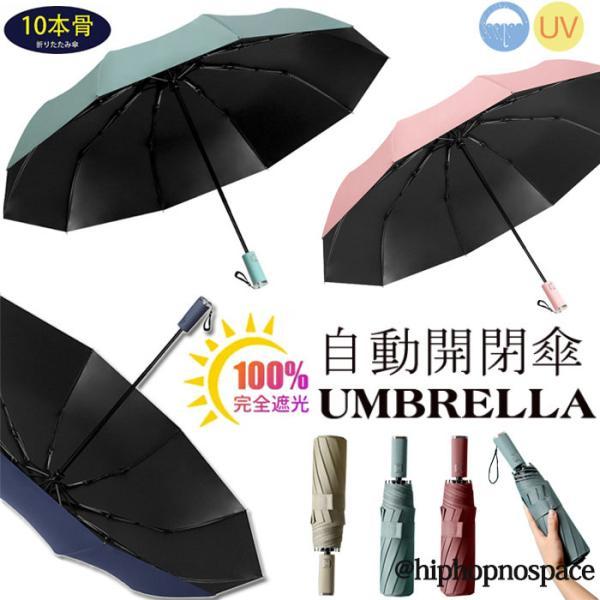折りたたみ傘晴雨兼用自動開閉シンプルビジネス通勤超撥水折り畳み大きい傘メンズレディース遮光UVカット日傘雨傘男女兼用コンパクトオ