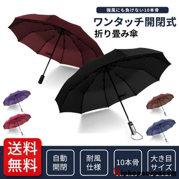折りたたみ傘晴雨兼用自動開閉シンプルワンタッチビジネス通勤通学超撥水折り畳み大きい傘メンズレディース遮光遮熱耐風日傘雨傘男女兼用