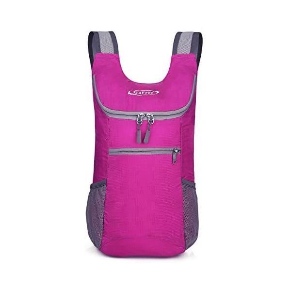 G4Free折畳みバッグ11Lポケッタブルリュック軽量スポーツバッグコンパクトメンズレディースジム子供旅行登山(ピンク)
