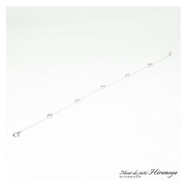 K18WG ダイヤモンドブレスレット|hiranoya78|02