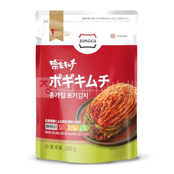宗家 白菜ポギキムチ 500g 賞味期限:01.26|hiroba