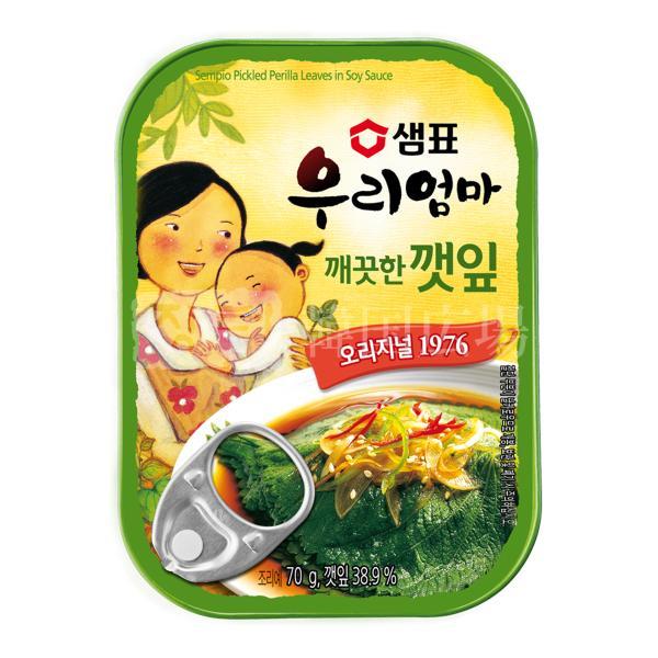 センピョ えごまの葉 缶詰 70g BOX (30個入)