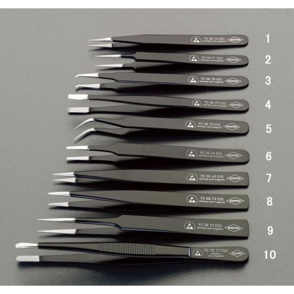 【メーカー在庫あり】 000012209558 エスコ ESCO 0.5x130mm 精密用ピンセット(ステンレス製 ESD) HD店