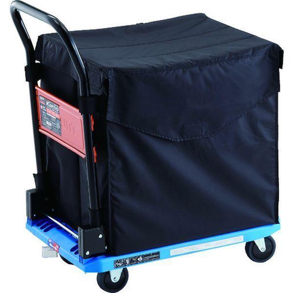 【メーカー在庫あり】 MPK-720-B-JS-CHB TRUSCO 樹脂台車 カルティオ CHBハンドトラックボックス付 樹脂ストッパー付 ブルー HD店