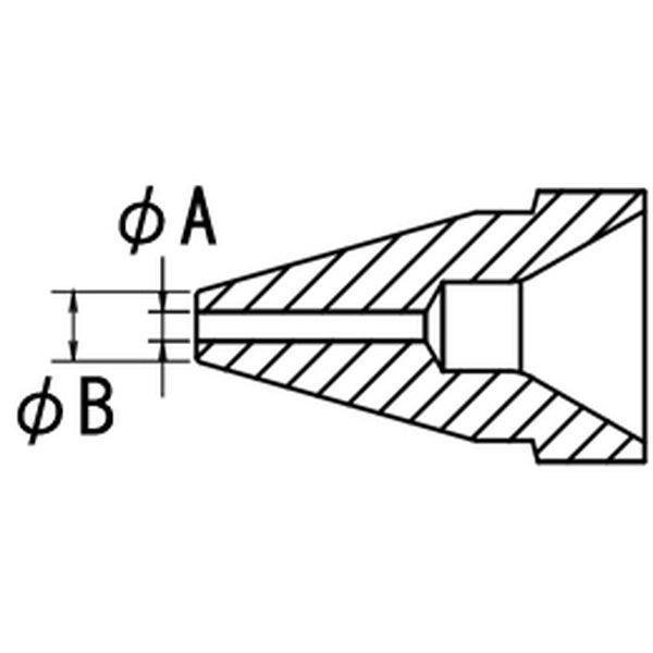 【メーカー在庫あり】 EA323MA-14 エスコ ESCO φ0.8/φ1.8mm 交換用ノズル(EA323MA-1用) JP