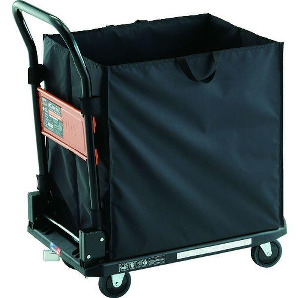 【メーカー在庫あり】 MPK-720-BK-JS-CHBA TRUSCO 樹脂台車 カルティオ CHBAハンドトラックボックス付 樹脂ストッパー付 ブラック JP店