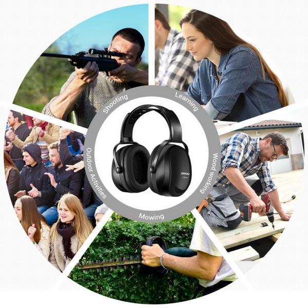 防音 イヤーマフ 聴覚過敏 遮音値36dB 折り畳み型 装着感良好 聴覚保護 耳覆い 射撃 騒音対策 大人子供兼用 ANSI S3.19/CE EN521認証済み 佐川急便|hirofukushop|14
