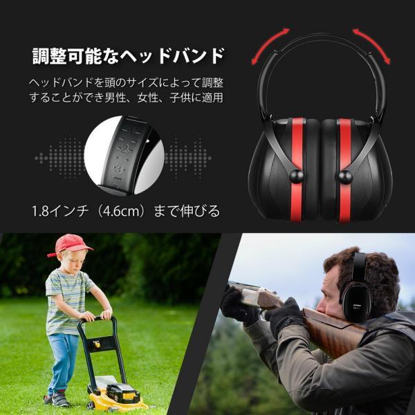 防音 イヤーマフ 聴覚過敏 遮音値36dB 折り畳み型 装着感良好 聴覚保護 耳覆い 射撃 騒音対策 大人子供兼用 ANSI S3.19/CE EN521認証済み 佐川急便|hirofukushop|04