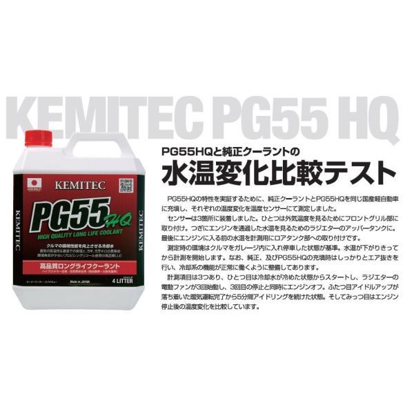 KEMITEC ケミテック PG55 HQ 4L  高性能ロングライフクーラント 暖気時間が短縮できるラジエター液 hirohataautoparts 02