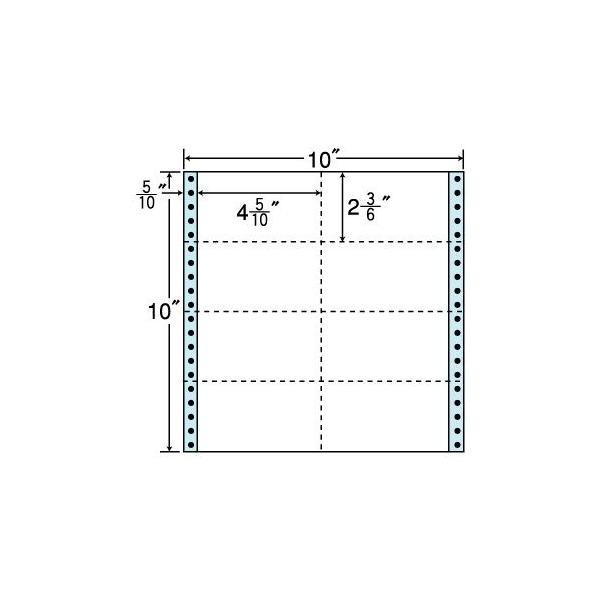 東洋印刷 M10B (500折入)【12箱セット】タックシール・10×10インチ 8面付 連続ラベル タックフォーム ナナラベル