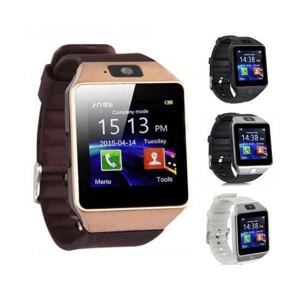 スマートウォッチ DZ09 《ゴールド》 タッチパネル 多機能 Bluetooth 腕時計 カメラ搭載 通話 ボイスレコーダー _