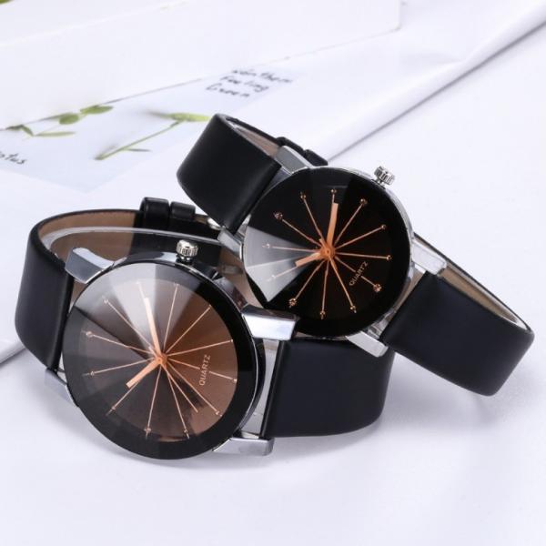 レディースアナログクォーツウォッチ 《ブラック》 A122 おしゃれ シンプル 腕時計 _
