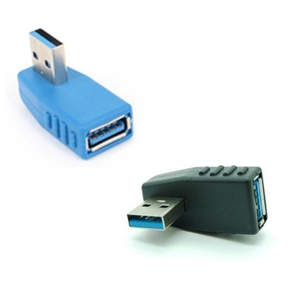 方向変換アダプター USB3.0 《左向き》 Aメス-Aオス 90度 _