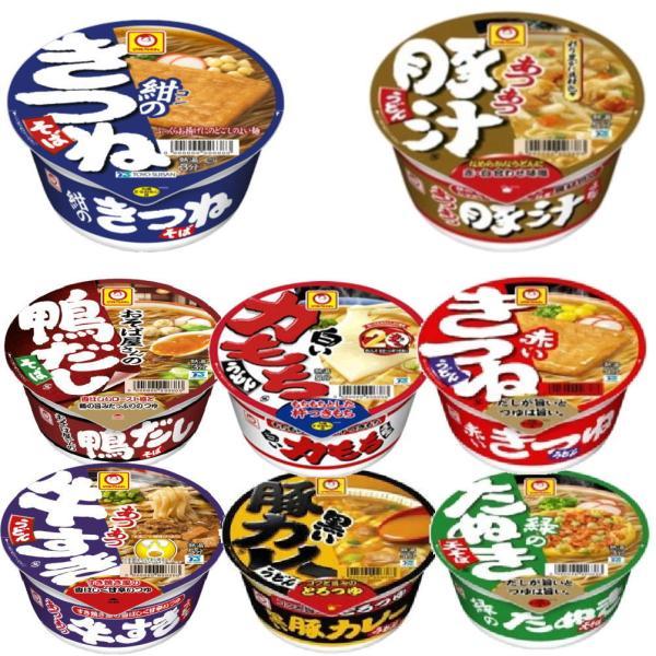 新着 東洋水産 マルちゃん カップ麺 赤いきつね( 西 ) 緑のたぬき( 西 ) 豚汁、 豚カレー、鴨だしそば、白い力もちうどん12個セット