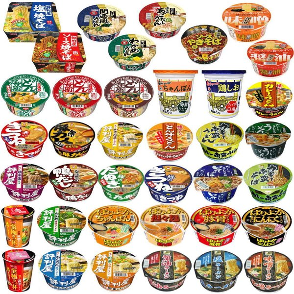 新着 カップ麺 レギュラーサイズ ラーメン・うどん・そば・焼きそばも入った えぇとこどり これで決まり30種セット 関東圏送料無料