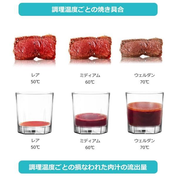 低温調理器 真空低温調理器 スロークッカー キッチン家電 IPX7防水 日本語取扱説明書とレシピ付 国内品質保証 ブラック|hismile|08