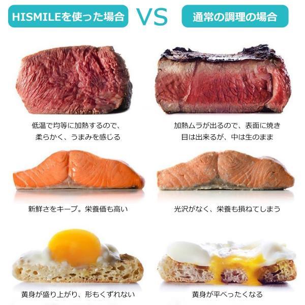 低温調理器 真空低温調理器 スロークッカー キッチン家電 IPX7防水 日本語取扱説明書とレシピ付 国内品質保証 ブラック|hismile|09