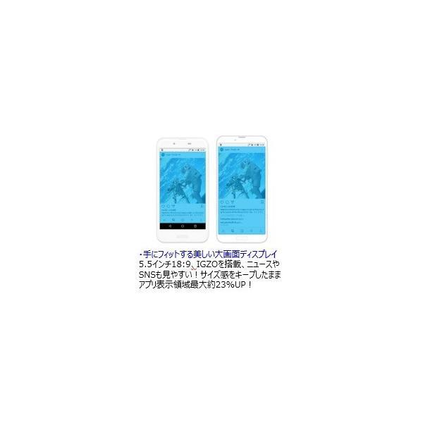 【SHARP/新品】AQUOS sense2 SH-M08 ホワイトシルバー|hismobile|02