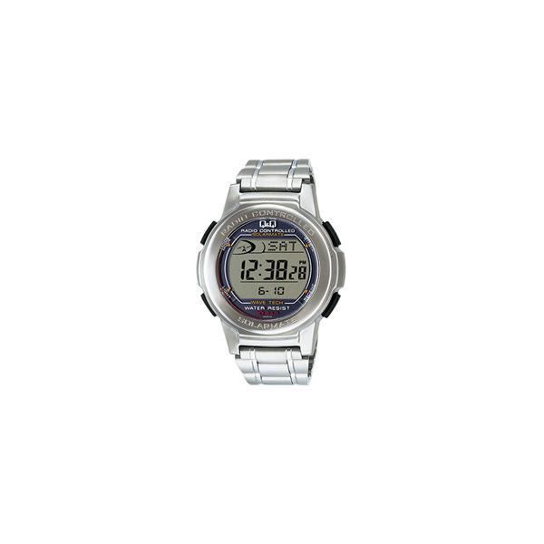 電波ソーラー腕時計シチズン時計Q&Q電波ソーラーあかり発電MHS5-200