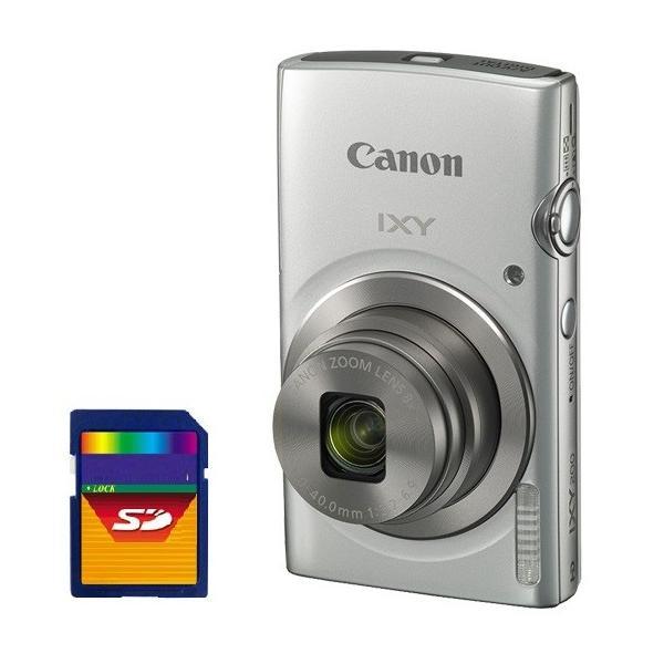 今ならSDHCカード8GB差し上げます【送料無料】CANON・キヤノン 光学8倍デジカメ IXY200SL シルバー IXY180後継機