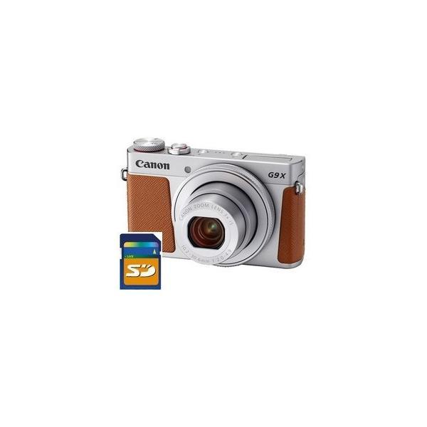 SDHCカード8GB差し上げます【送料無料】キヤノン Canon デジカメ 高画質 軽量 パワーショット PowerShot G9 X Mark II シルバー
