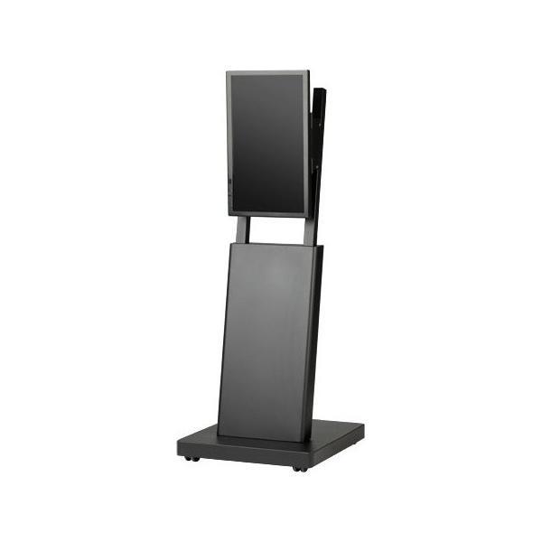 デジタルサイネージスタンド 22インチ用エコノミータイプ黒 【大型商品につき代引不可・時間指定不可・返品不可】 DSS-M22B2【返品不可】
