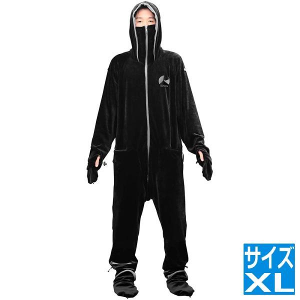 ゲーミング 着る毛布 ダメ着4G XLサイズ ブラック HFD-4G-XL-BK | 着る毛布 メンズ ダメ着 だめ着 DAMEGI 4G HFD-4G-XL-BK