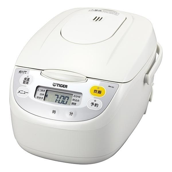 タイガー魔法瓶 マイコン炊飯ジャー JBH-G181 W ホワイト 炊飯容量:1升の画像