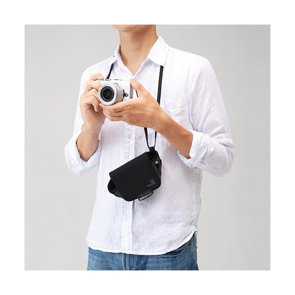 ミラーレス一眼カメラケース/ソフトタイプ/マチ拡張機能付き/Sサイズ/ブラック DGB-S022BK