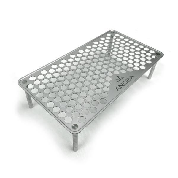 アノバULソロテーブルパンチングAN001|キャンプアウトドア軽量ステンレスアルミ机テーブルAN001