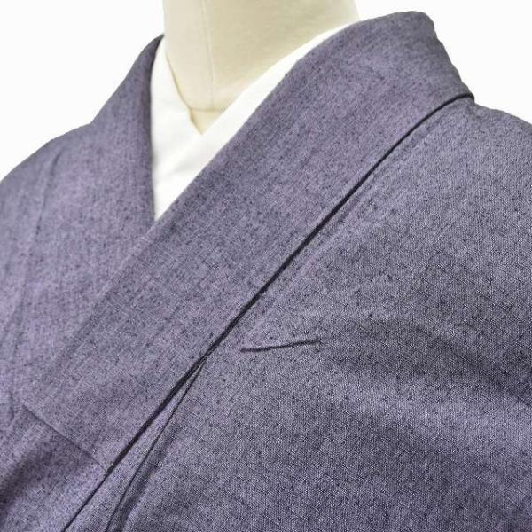リサイクル 真綿紬 中古 正絹 単衣 つむぎ 裄65.5cm 裄Mサイズ jj0370b|hitotoki