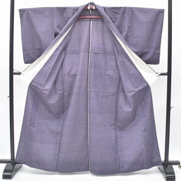 リサイクル 真綿紬 中古 正絹 単衣 つむぎ 裄65.5cm 裄Mサイズ jj0370b|hitotoki|03