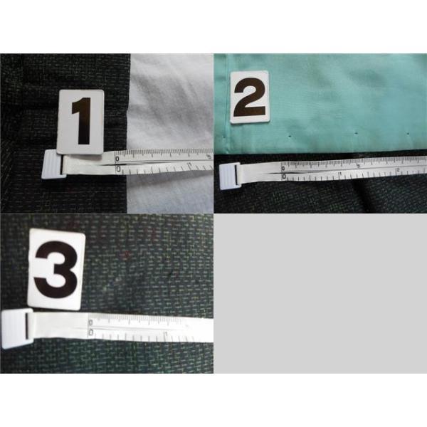 リサイクル 紬 中古 正絹 つむぎ 草花文様 裄64.5cm 緑系 jj0570b|hitotoki|05