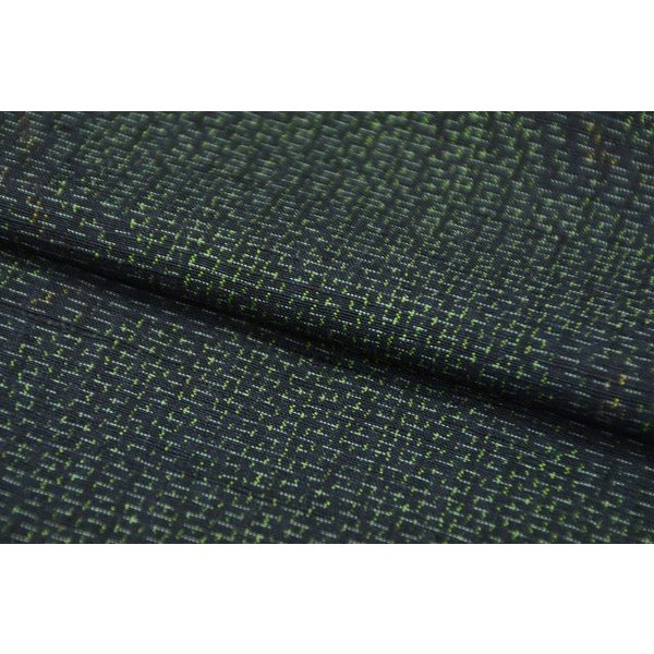 リサイクル 紬 中古 正絹 つむぎ 草花文様 裄64.5cm 緑系 jj0570b|hitotoki|06