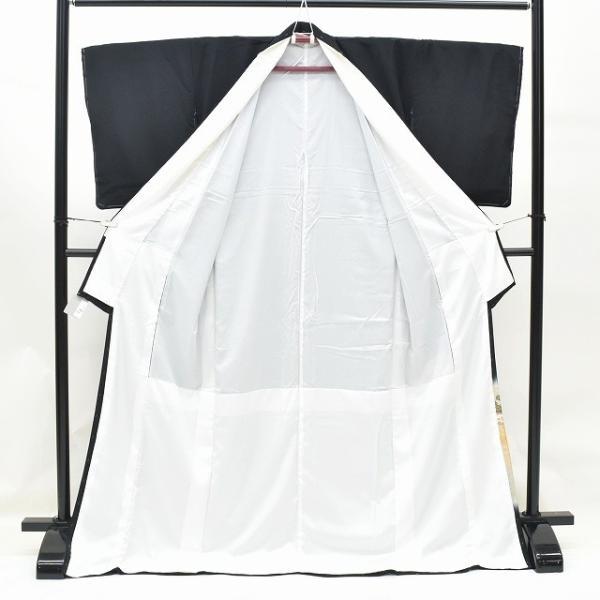 リサイクル着物 黒留袖 中古 正絹 五つ紋 袋帯 2点セット ちょっとふくよかL Lサイズ ll2418b|hitotoki|02