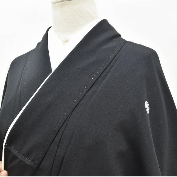 リサイクル着物 黒留袖 中古 正絹 五つ紋 袋帯 2点セット ちょっとふくよかL Lサイズ ll2418b|hitotoki|03