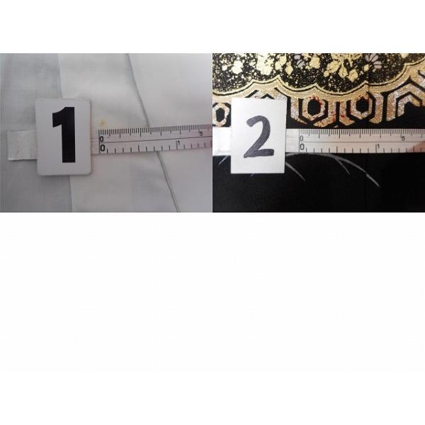 黒留袖 中古 着物 リサイクル 正絹 五つ紋 比翼付き 仕立て上がり ちょっとふくよかL mm0762b|hitotoki|05