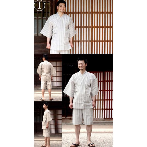 男性用甚平 だんせいようじんべい 紳士 綿 麻 メンズ くつろぎ甚平 男の夏 L nfuji120men|hitotoki|05