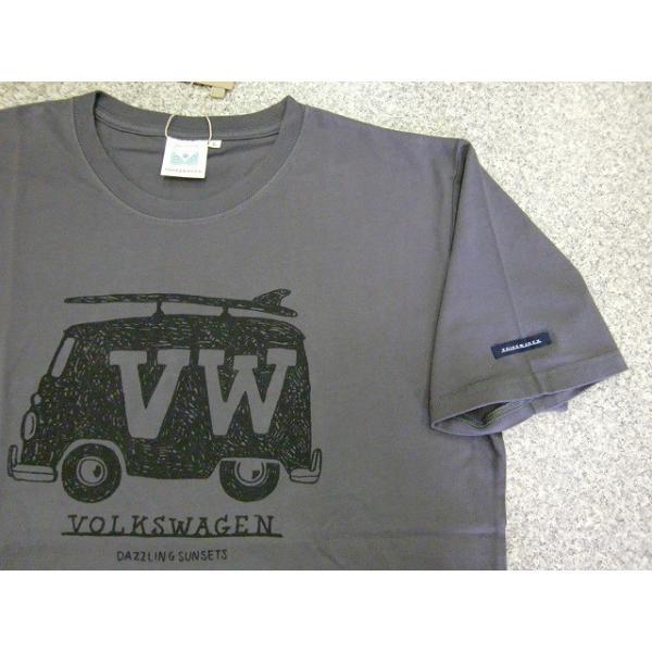 Tシャツ 半袖Tシャツ VOLKSWAGEN フォルクスワーゲン メンズ レトロ サーフ ロゴT 大人 夏 新作|hitstyle|03