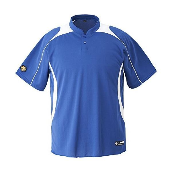 DESCENTE(デサント) DB-110B カラー:RYSW サイズ:XO 2ボタンベースボールシャツ