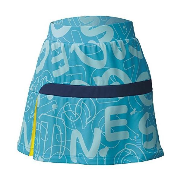 ゴーセン(GOSEN) レディース 硬式テニス ソフトテニス バドミントン ファンプラスカート S1701 ターコイズブルー(18) LL