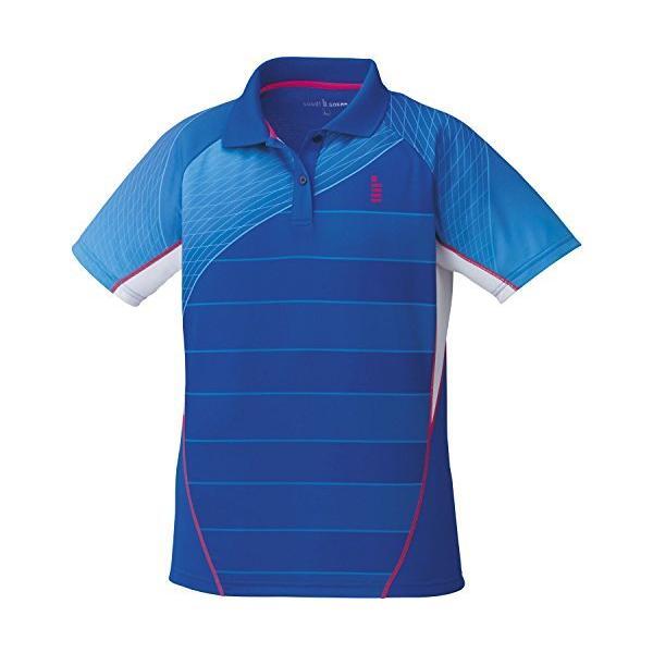 ゴーセン(GOSEN) レディース バドミントン ソフトテニス ゲームシャツ T1701 ロイヤルブルー(15) LL