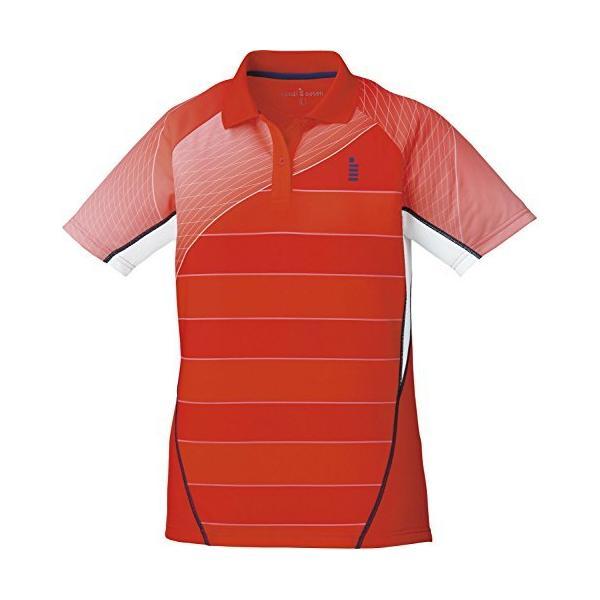 ゴーセン(GOSEN) レディース バドミントン ソフトテニス ゲームシャツ T1701 レッド(27) L