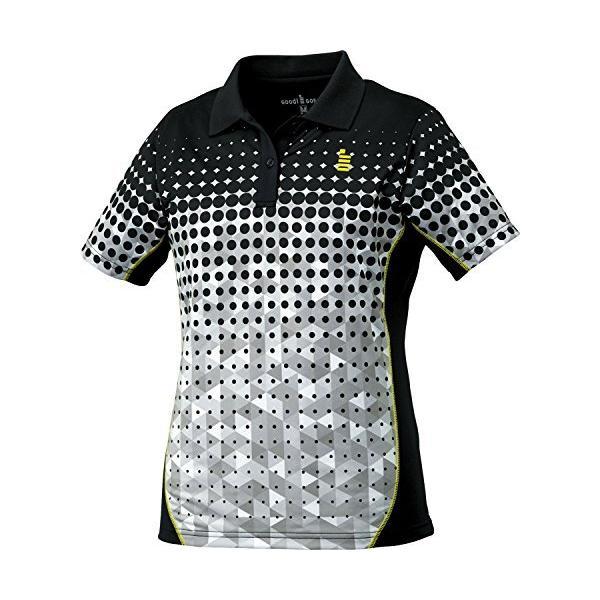 ゴーセン(GOSEN) テニス バドミントン レディース ゲームシャツ T1715 ブラック(39) S
