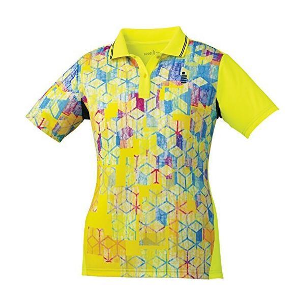 ゴーセン(GOSEN) ソフトテニス バドミントン レディース ゲームシャツ T1801 ネオンイエロー(53) Lサイズ